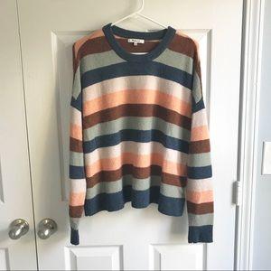 Madewell Elmwood Stripe Pullover Sweater
